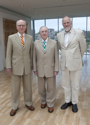 Anthony Bond with Gilbert & George